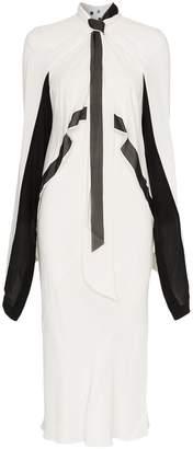 Yin & Yang Kitx Yin Yang knotted asymmetric silk dress