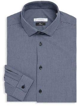 Versace Cotton Gingham Dress Shirt