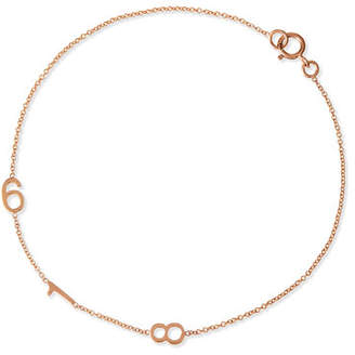 Maya Brenner Designs Mini 3-Number Bracelet, Rose Gold
