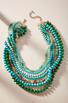 Anthropologie Green Goddess Layered Necklace