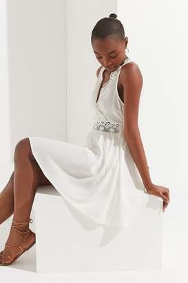 Urban Outfitters Lace-Trim Surplice Mini Dress