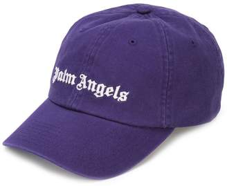 Palm Angels logo embroidered cap