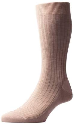 Pantherella Mens Laburnum Rib Merino Wool Socks - Light - Medium