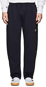 Gosha Rubchinskiy Men's Embroidered Cotton Terry Sweatpants - Navy