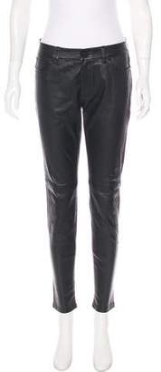 MICHAEL Michael Kors Leather Mid-Rise Pants