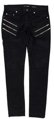 Saint Laurent Zip-Accented D02 Skinny Jeans