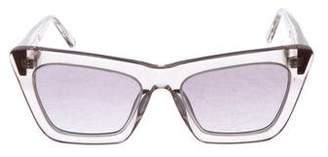 Komono Reflective Cat-Eye Sunglasses