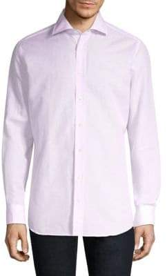 Luciano Barbera Regular-Fit Melange Solid Shirt