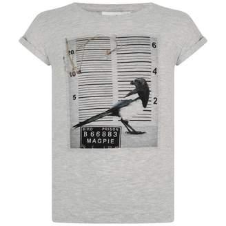 Molo MoloGirls Grey Magpie Print Top