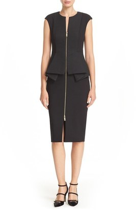 Women's Ted Baker London Jumana' Zip Front Peplum Sheath Dress $315 thestylecure.com