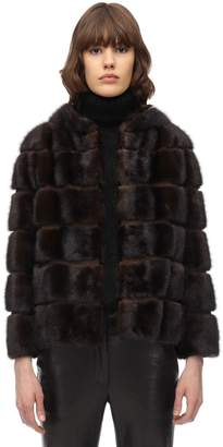 Simonetta Ravizza Hooded Mink Jacket