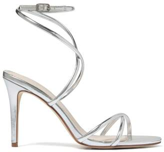 Forever New Womens Cross Strap Heels - Silver