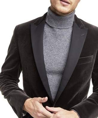 Todd Snyder Made in the USA Unconstructed Velvet Sport Coat in Charcoal