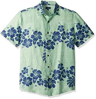 Margaritaville Men's Short Sleeve Cabana Linen Shirt