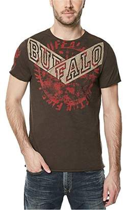 Buffalo David Bitton Men's Tifuge Ss Crewneck Slub Fabric Fashion Graphic T-Shirt