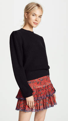 Frame Cropped Crew Pullover