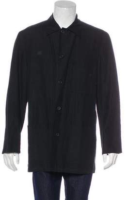 Ralph Lauren Purple Label Linen Button-Up Coat