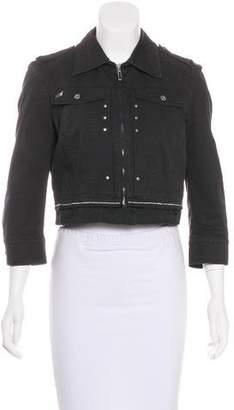CNC Costume National Collar Zip-Up Jacket