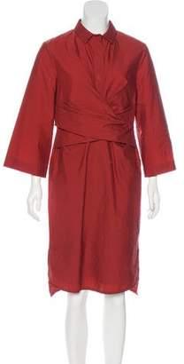 Brunello Cucinelli Collared Midi Dress