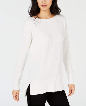 Maison Jules High-Low Hem Sweater, Created for Macy's