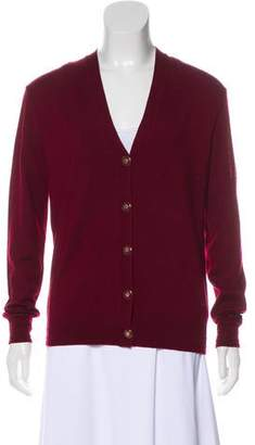 Tory Burch Wool V-Neck Cardigan