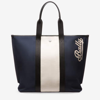 Bally Canvas Tote Medium Blue 1