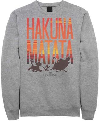 Licensed Character Juniors Lion King Hakuna Matata Sunset Text Fleece Top