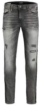 Jack and Jones Distressed Skinny Jeans