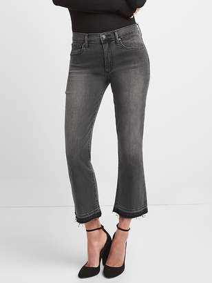 Gap High Rise Crop Kick Jeans with Raw Hem