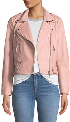 Rebecca Minkoff Wes Leather Zip Moto Jacket