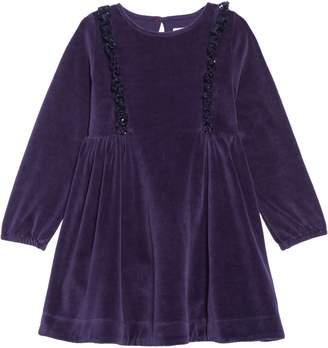 Boden Mini Festive Velour Dress
