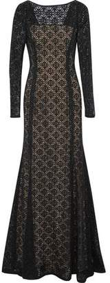 Oscar de la Renta Cotton-Blend Lace Gown
