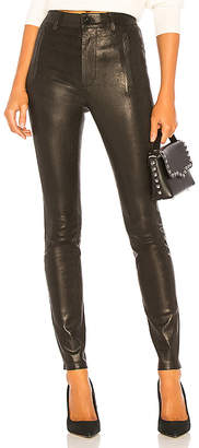 J Brand Lora Super High Rise Leather Skinny