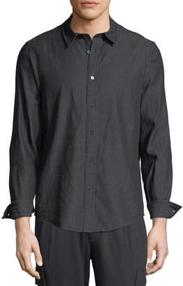 Slate & Stone Men's Casual Point Collar Button-Down Shirt