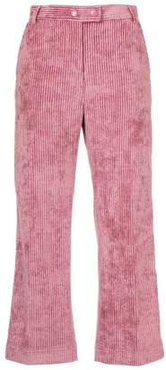 Moncler cropped corduroy trousers