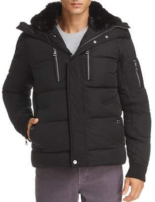 Karl Lagerfeld Paris Faux Fur-Lined Puffer Jacket