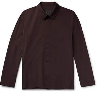 Theory Yonny Nylon-Blend Shirt Jacket - Men - Merlot