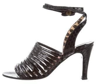 Valentino Python Lace-Up Sandals