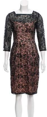 Sue Wong Lace Knee-Length Dress