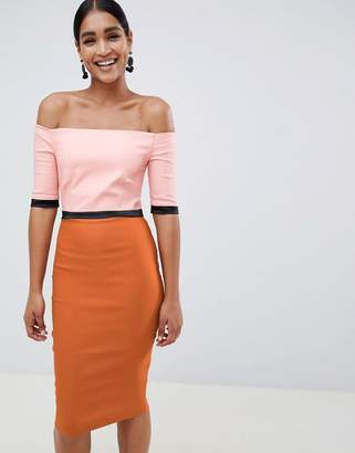 Bardot Vesper printed pencil dress