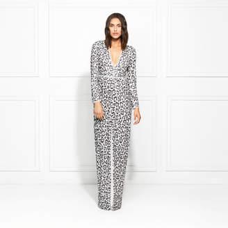 Rachel Zoe Carey Snow Leopard Sequin Gown