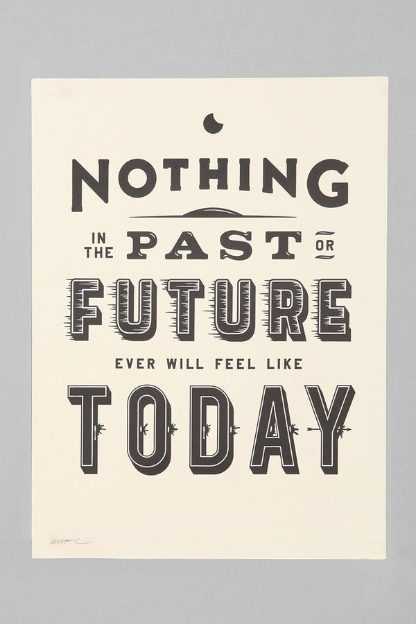 Urban Outfitters Matt Chase Nothing Past Nothing Future Art Print