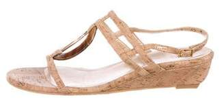 Stuart Weitzman Cork Slingback Sandals