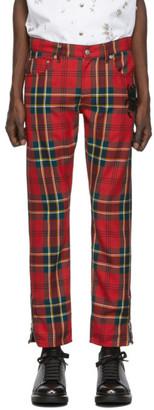 Alexander McQueen Red Tartan Bug Trousers