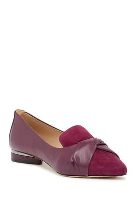 Zac Posen Claudia Contrast Pointed Toe Loafer