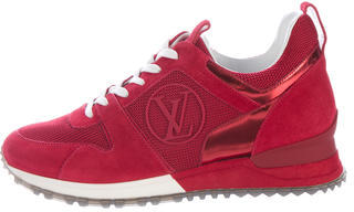 Louis Vuitton Suede Run Away Sneakers $700 thestylecure.com