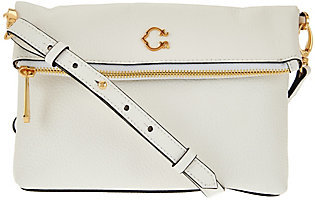 C. WonderAs Is C. Wonder Pebble Leather Foldover Crossbody Bag