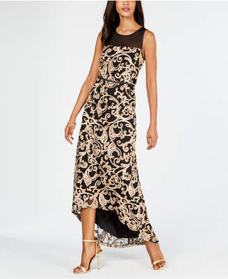 Connected High-Low Soutache Gown