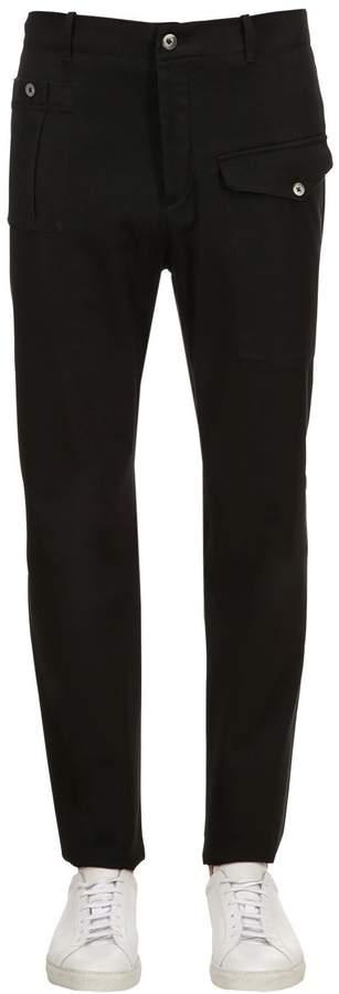 18.5cm Cargo Gabardine Cotton Pants