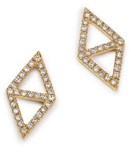 KC Designs 14K Yellow Gold Double Triangle Diamond Earrings